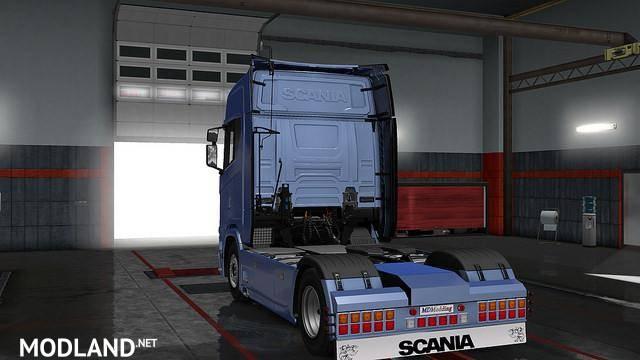 Rear bumper Scania Next Gen V1 mod for ETS 2