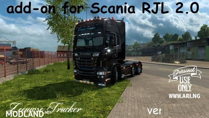 Scania Rjl 2 0 Add On By Zeeuwse Trucker Mod For Ets 2