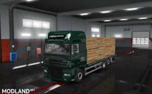 Flatbed Addon For Tandem for Rigid chassis pack for all SCS trucks, 2 photo
