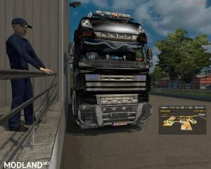 Hybrid DAF XF 105 and Scania V8 MP