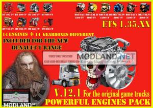 Pack Powerful engines + gearboxes V.12.1 for ETS2 1.35.x, 1 photo