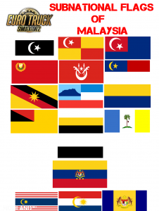 Subnational Flags of Malaysia - Direct Download image