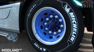 Tuning Blue-White Skin for abbastreppas Wheel Pack, 2 photo