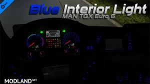 MAN TGX Euro 6 Blue Interior Light, 1 photo