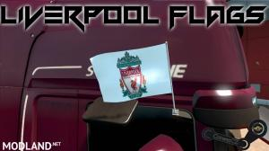 Liverpool Red & White Flags, 2 photo