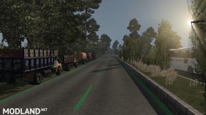 Green HD Road Lines