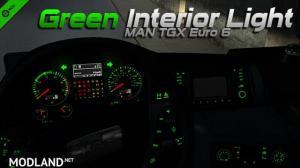 MAN TGX Euro 6 Green Interior Light, 1 photo