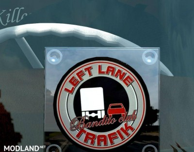 Left Lane Trafik Window Lightbox For ALL TRUCK
