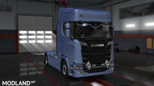 LED Plate & Grill & Curtain & Logo (Mighty_Griffin) For scania S 2016