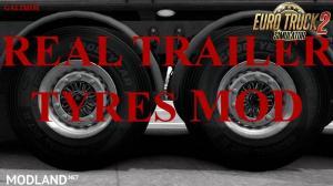 Real Trailer Tyres Mod v1.1 (1.32)