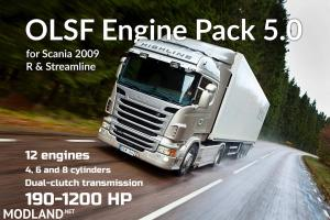 OLSF Engine Pack 5.0 for Scania R and Streamline 2009/2012 - 1.30.x