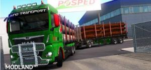 Timber Trailer for MAN TGX (MADster)