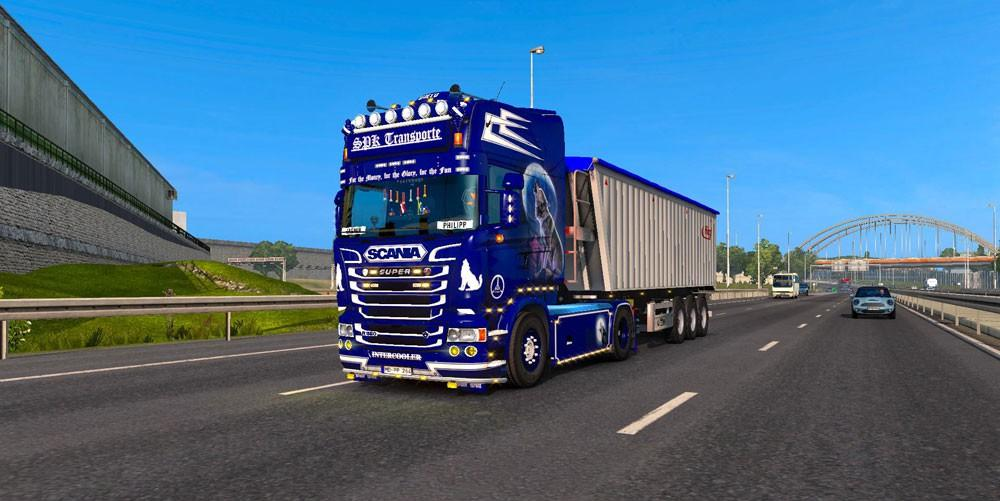 Scania Rjl Blue Griffin Skin Modlandnet on Volvo Truck Cab And Chassis