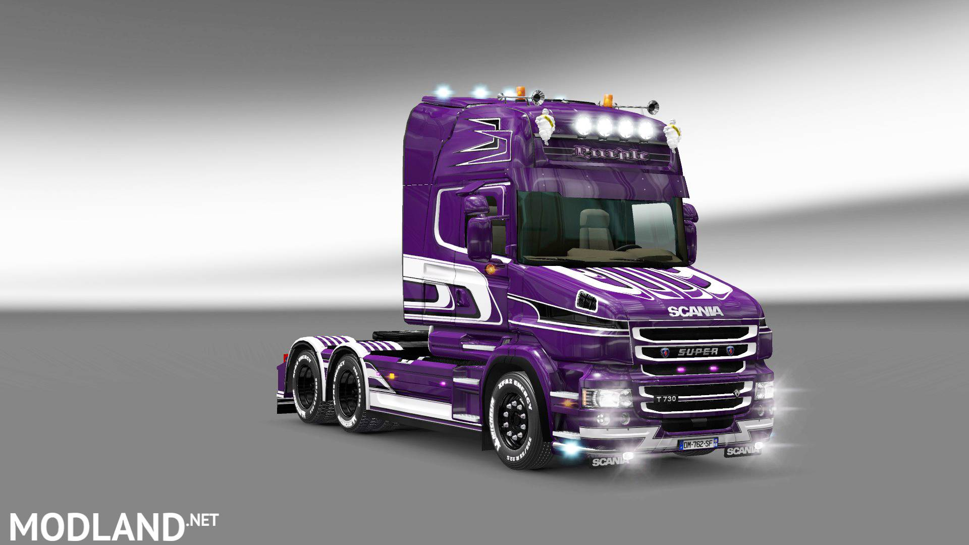 purple skin for scania t mod for ets 2