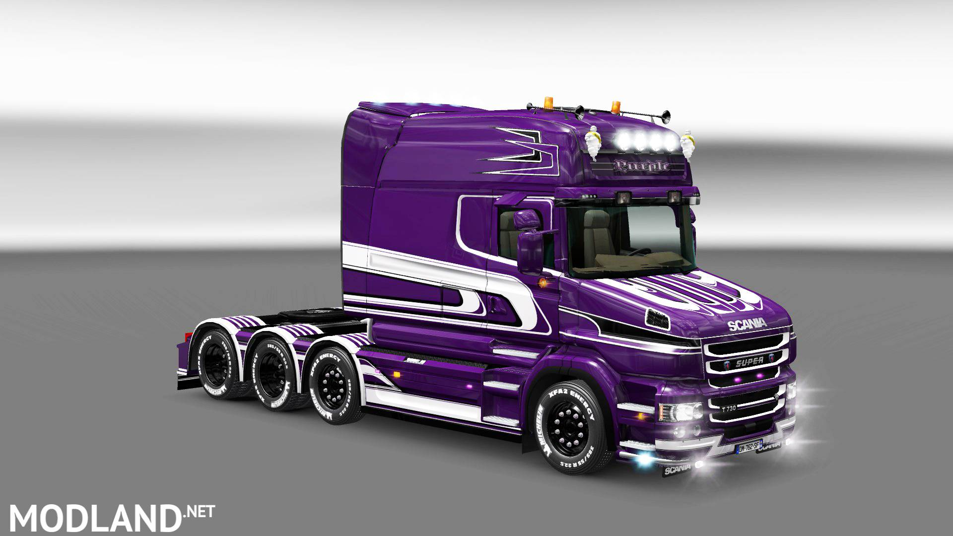 Grand Truck Simulator Skin Mercedes Actros >> Purple skin for Scania T mod for ETS 2