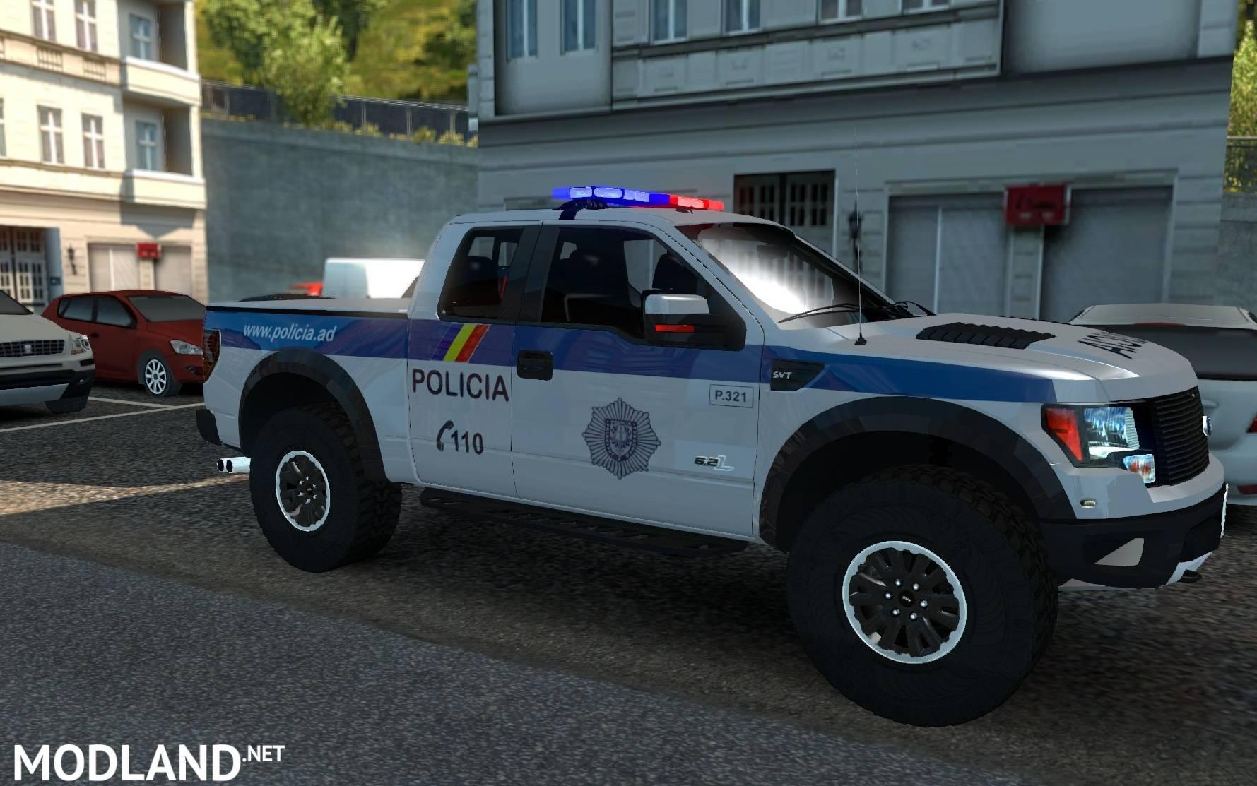 Andorra Police Skin For Ford Raptor Mod For Ets 2