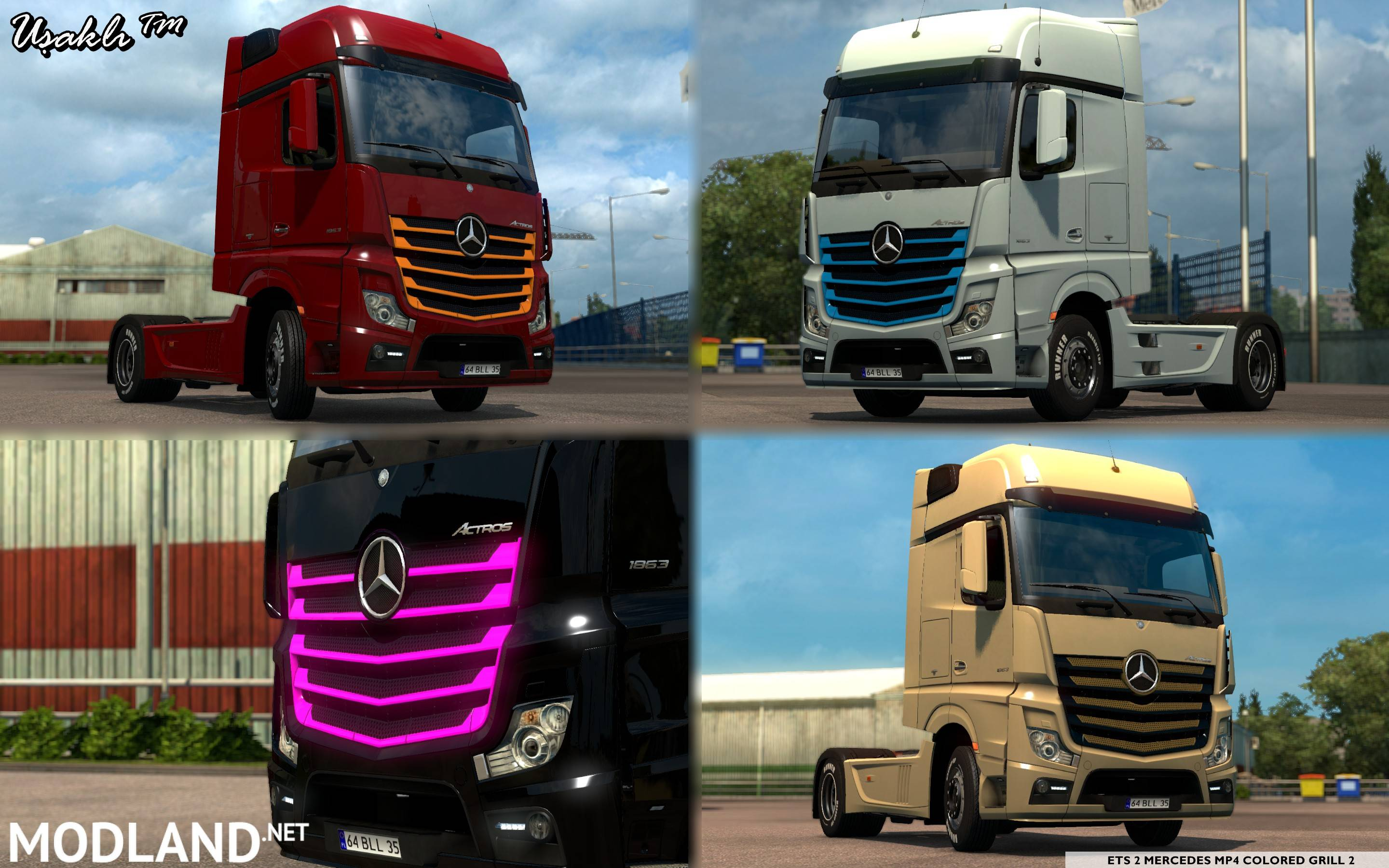 Seat Skins For Trucks >> Mercedes MP4 New Actros 2014 Colored Grill 2 mod for ETS 2