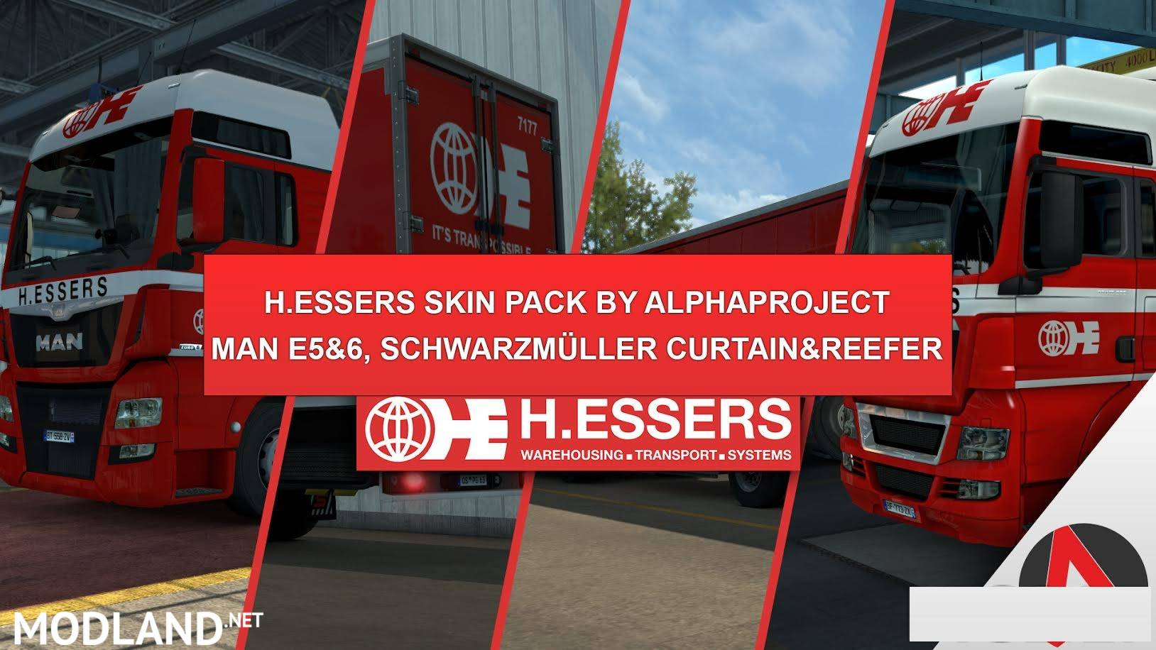 H Essers Skin Pack By Alphaproject V 1 0 Mod For Ets 2
