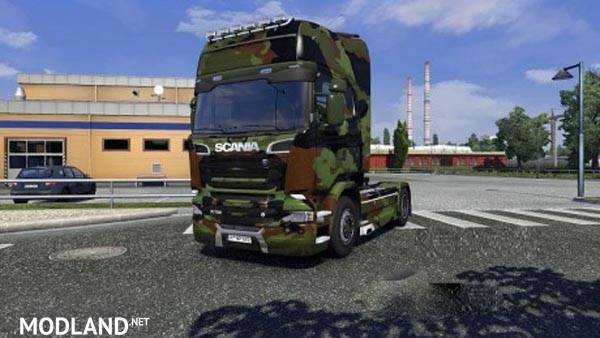 Army Skin Pack For Scania Streamline Mod For Ets 2