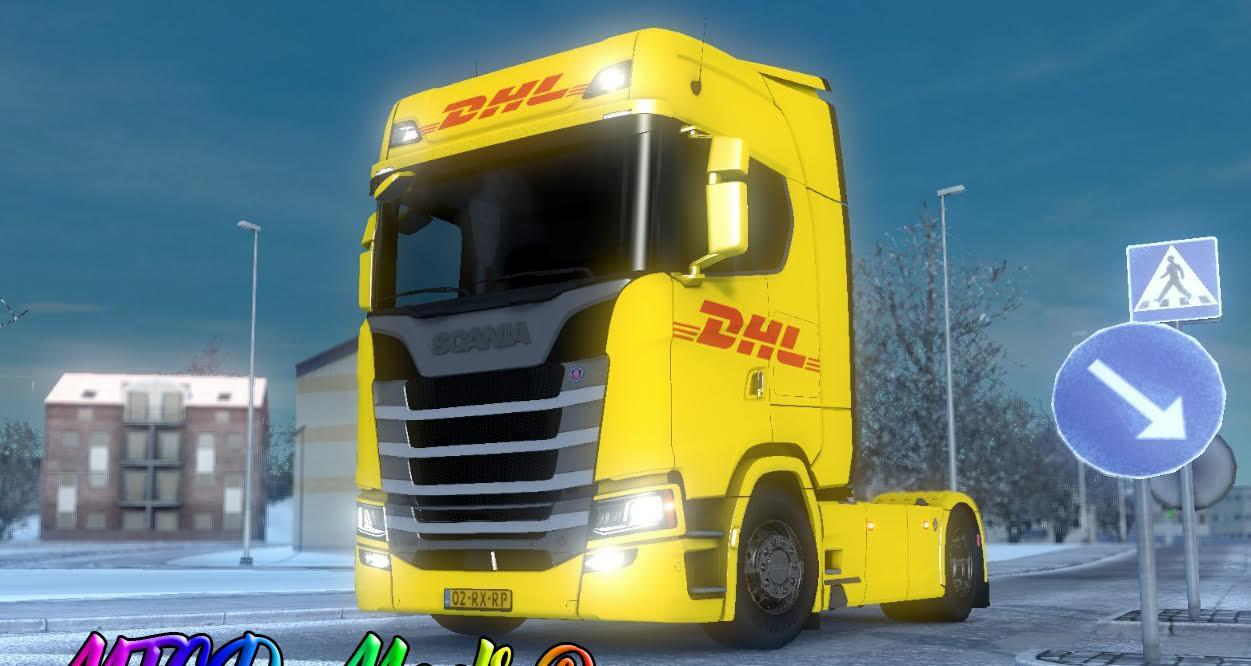 Dhl Scania S Series Skin By Mtgd Mods 169 Fixed Mod For Ets 2