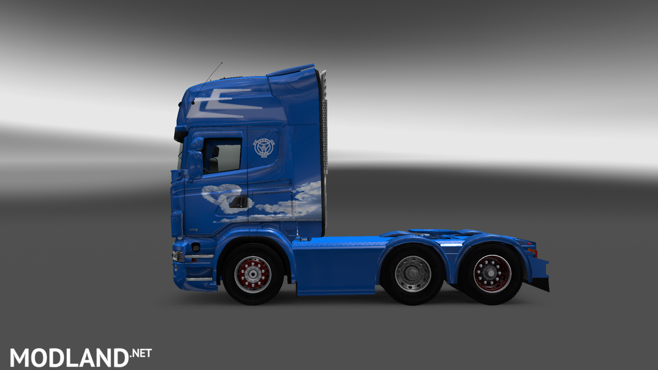 Love is in the air Scania RJL skin mod for ETS 2