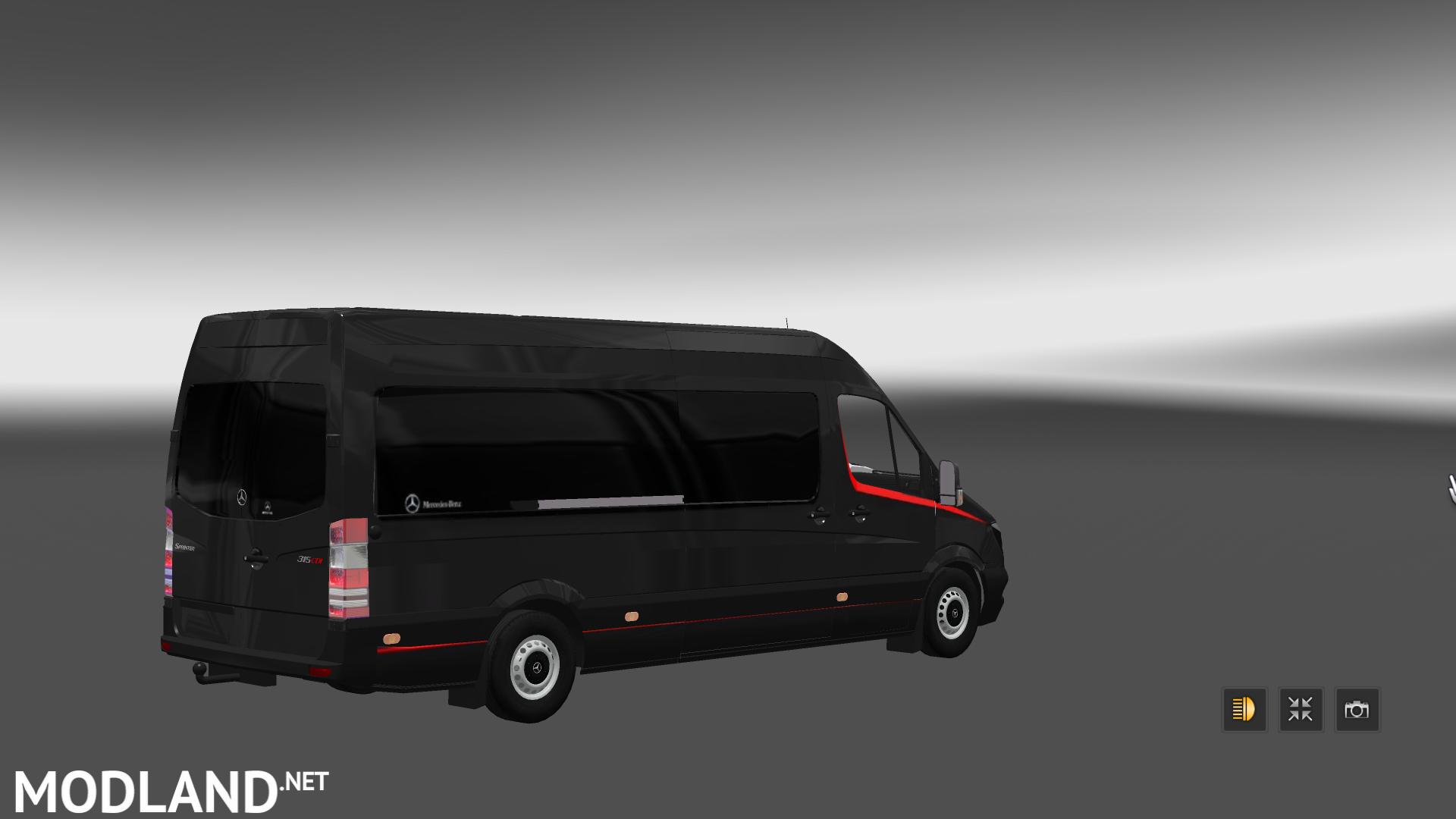 Mercedes Sprinter Long 2014 Minibus Skin Pack V 1 1 Mod For