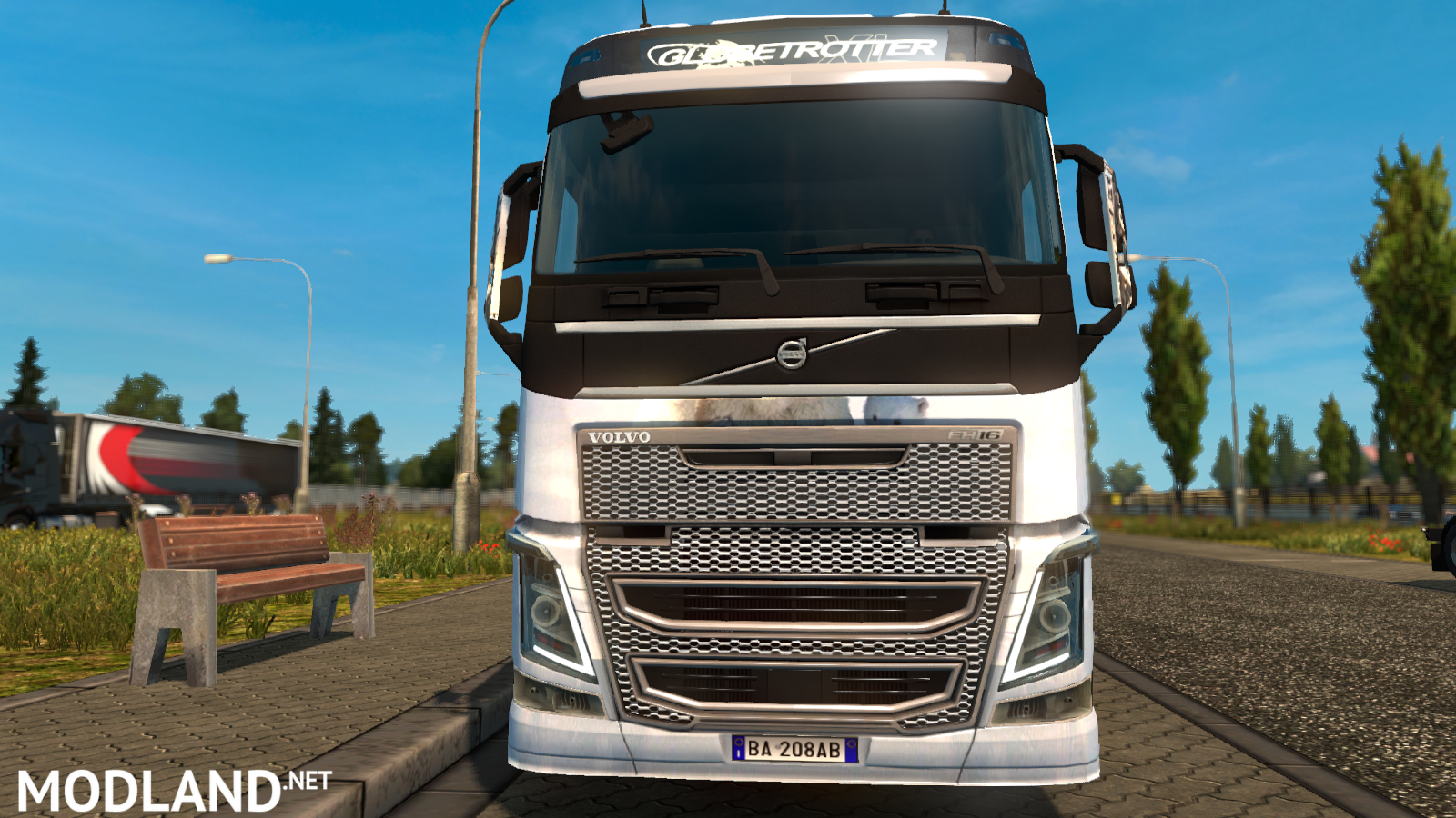 Grand Truck Simulator Skin Mercedes Actros >> Volvo FH 2013 White Bear Skin mod for ETS 2