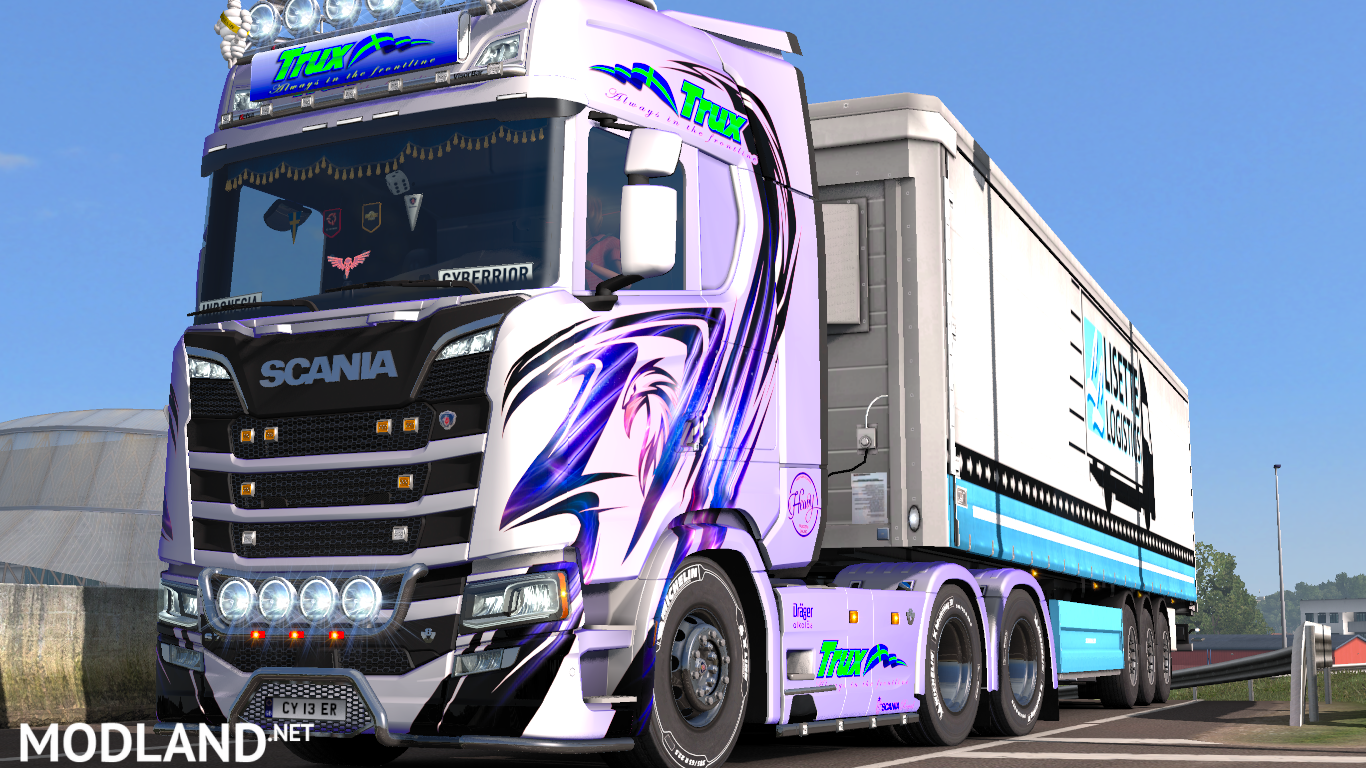 Trux paintjobs for scania sr new generation