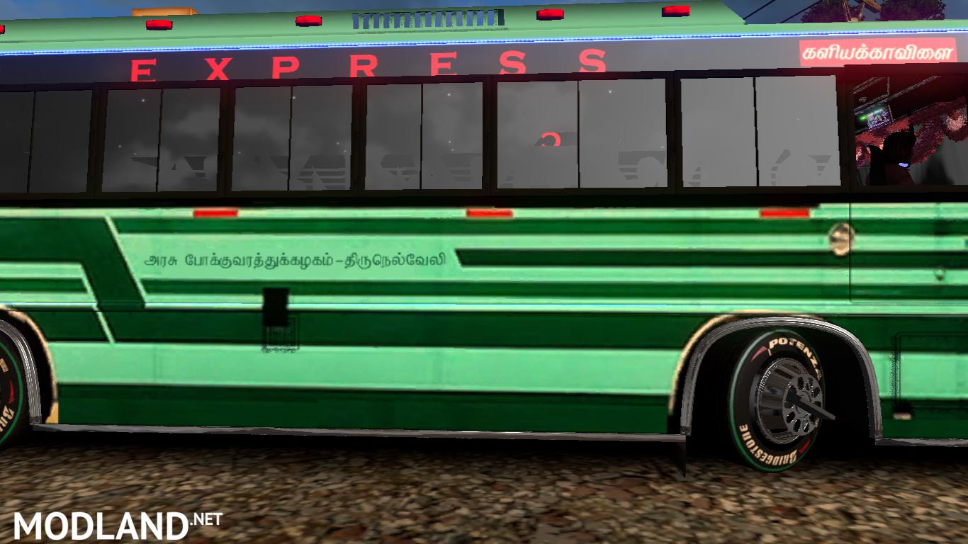 TNSTC Velankanni bus skin mod for maruti v2 bus mod for ETS 2