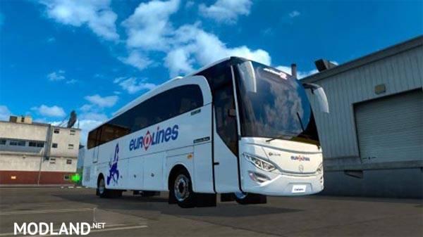 euro truck simulator eurolines bus gratuit
