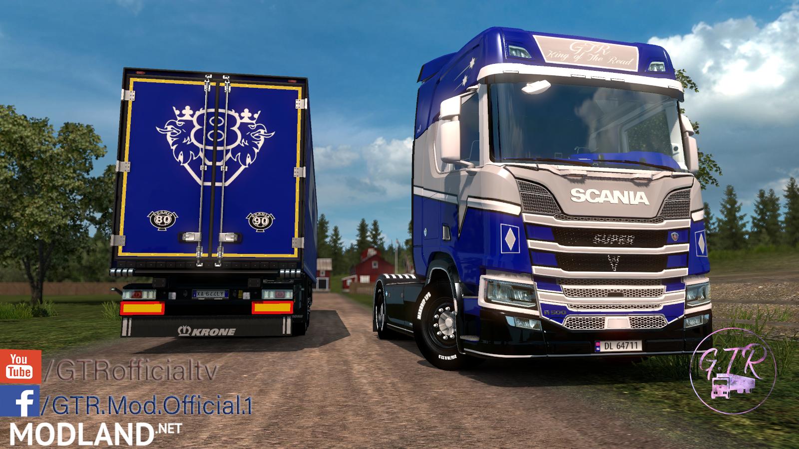 Combo Skin Scania R Next Gen [Dlc Krone & Standard Trailers