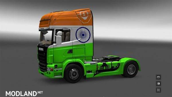 India Skin Scania R Series mod for ETS 2