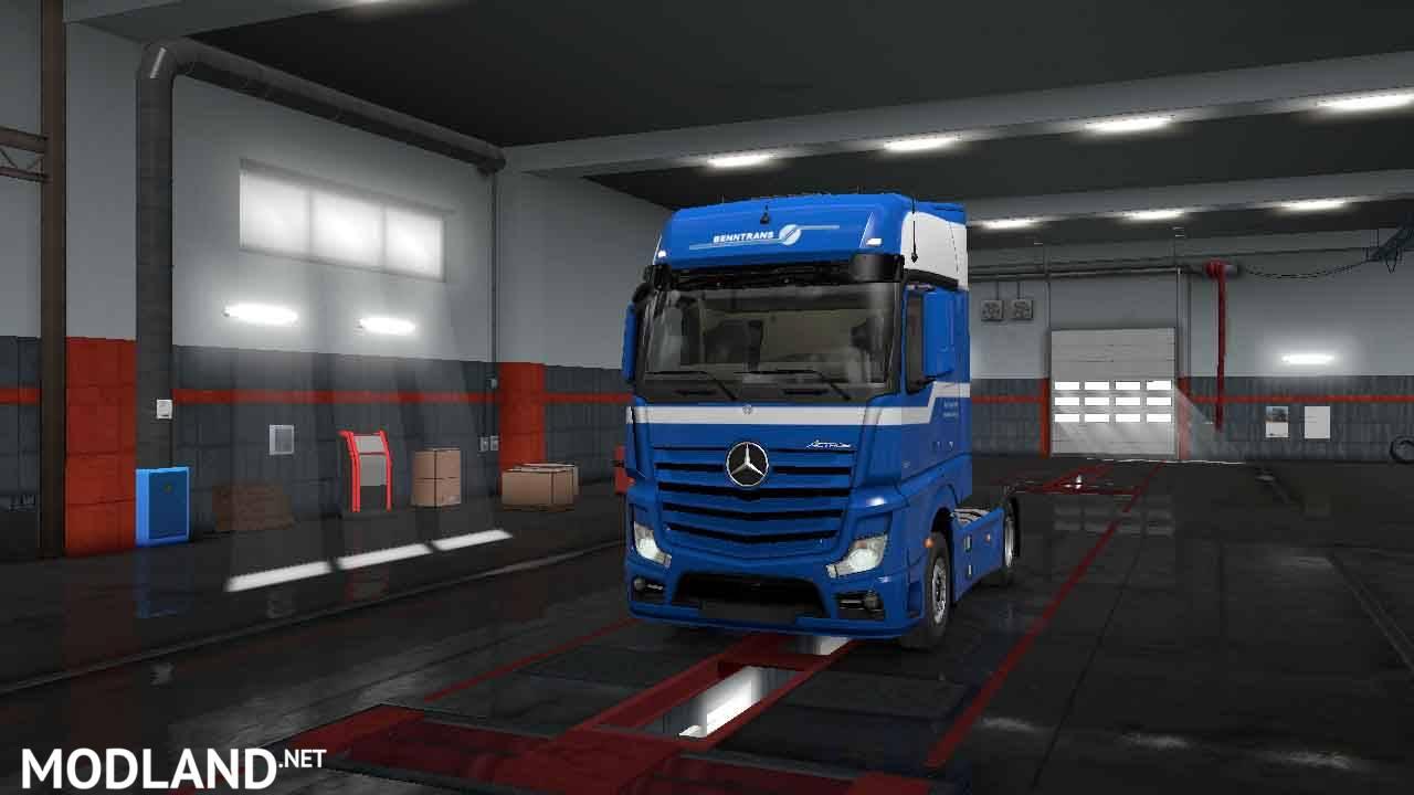Skin - BennTransport - Mercedes MP4 - ETS2 132 133