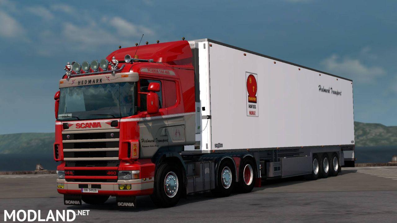 "Scania RJL 4 series ""topless"" Hedmark Transport Skin"