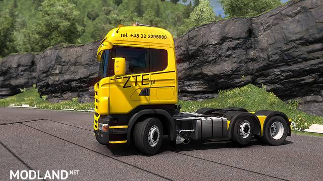 Scania RJL - Skin ZTE For ETS2 1.33.x