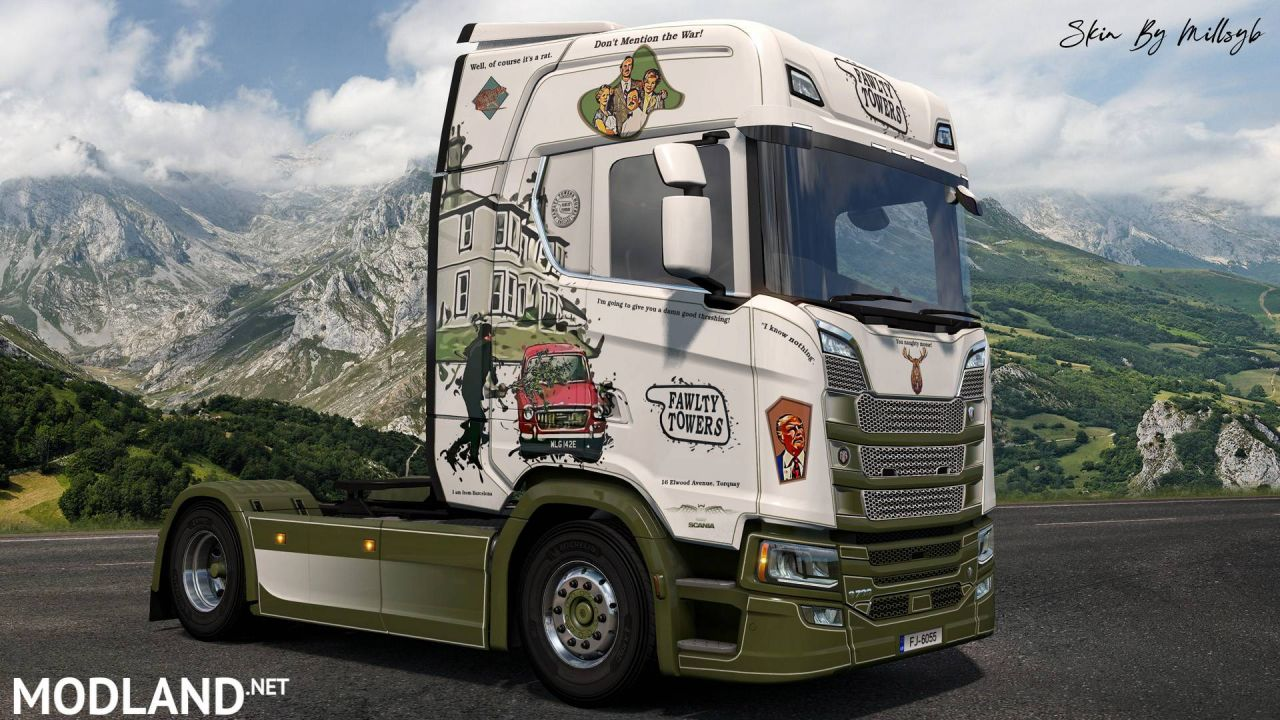 Fawlty Towers NG Scania Skin 1