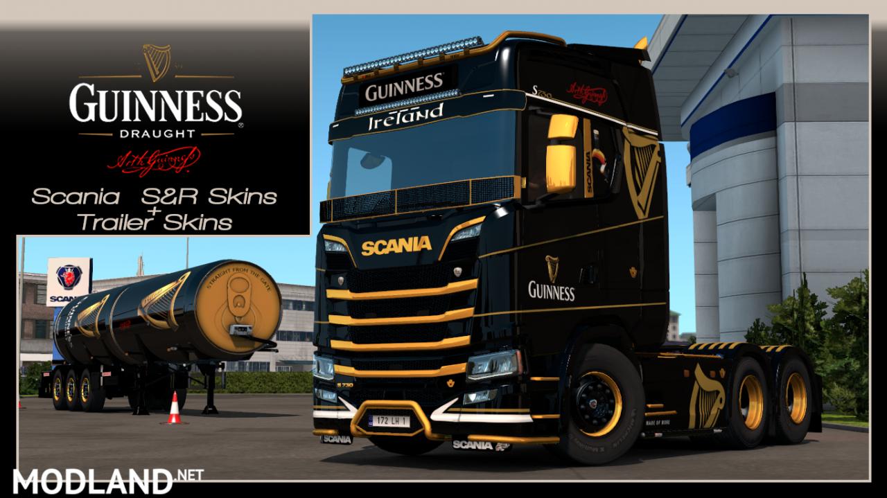 Guinness Scania S&R skin+Trailer Skin