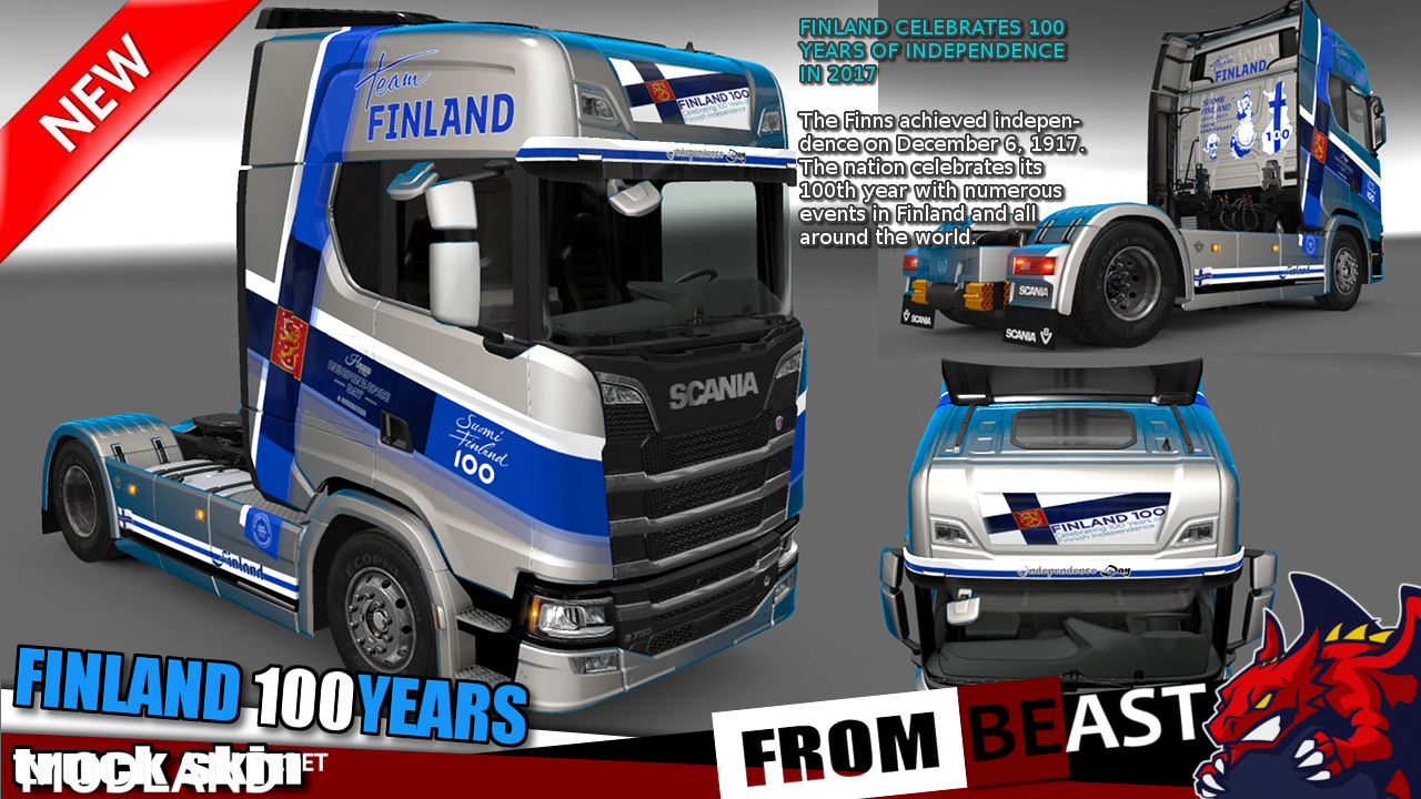 "SCANIA S 2016 - ""FINLAND 100 Years OF INDEPENDENCE "" truck skin by BEAST"