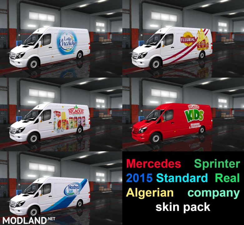 Mercedes Sprinter 2015 Standard  Real Algerian company skin pack