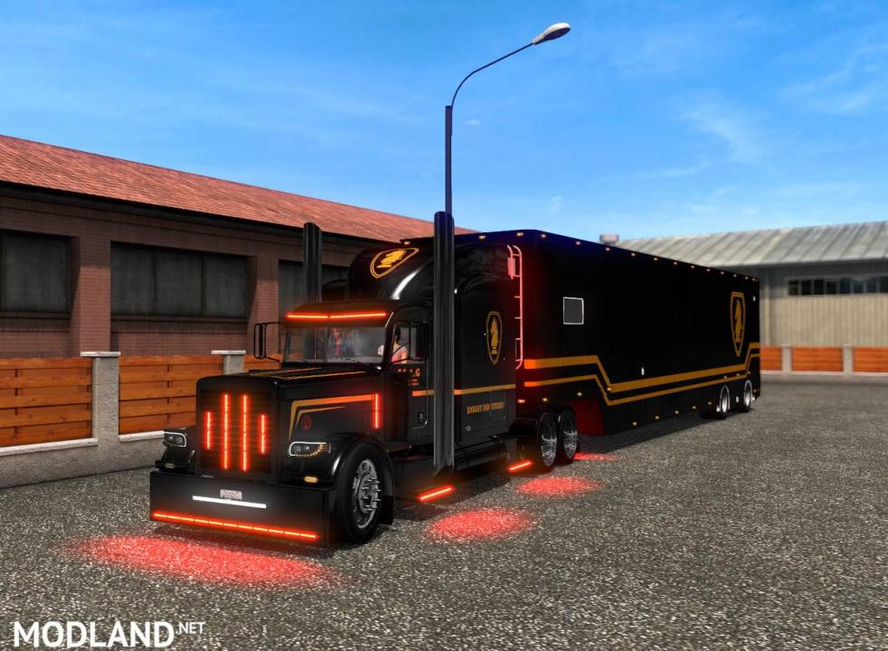 ETS2 - Knight Rider skin for Vipers Peterbilt 389