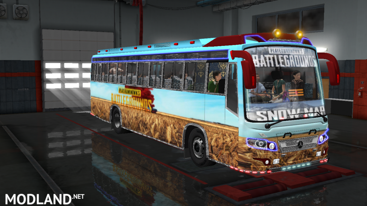 PUBG SNOW MAP SKINS FOR MARUTI BUS IN ETS2