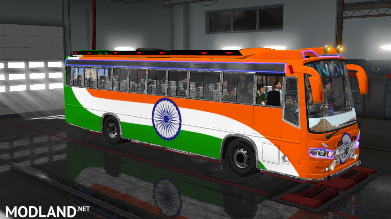 INDIAN SKINS FOR MARUTI BUS IN ETS2