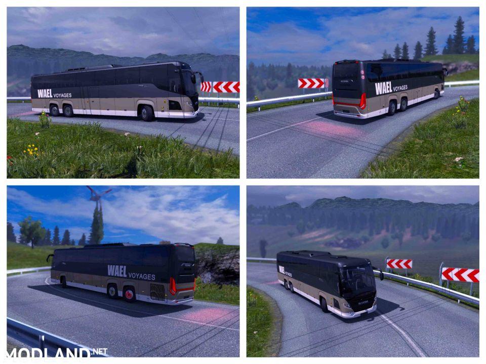 Scania Bus Touring - Wael Voyages - ETS2 1.34.x
