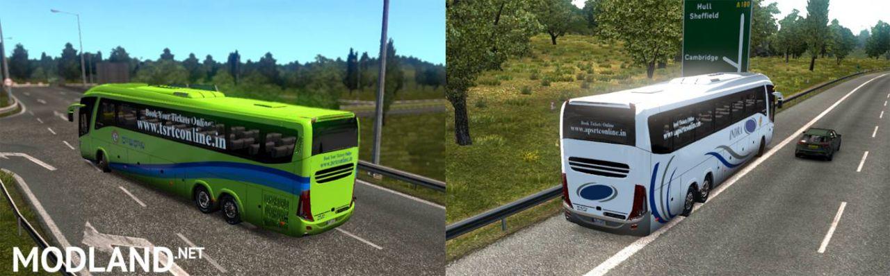 INDRA (APSRTC) & RAJADHANI (TSRTC) Skin for G7 Volvo 6X2