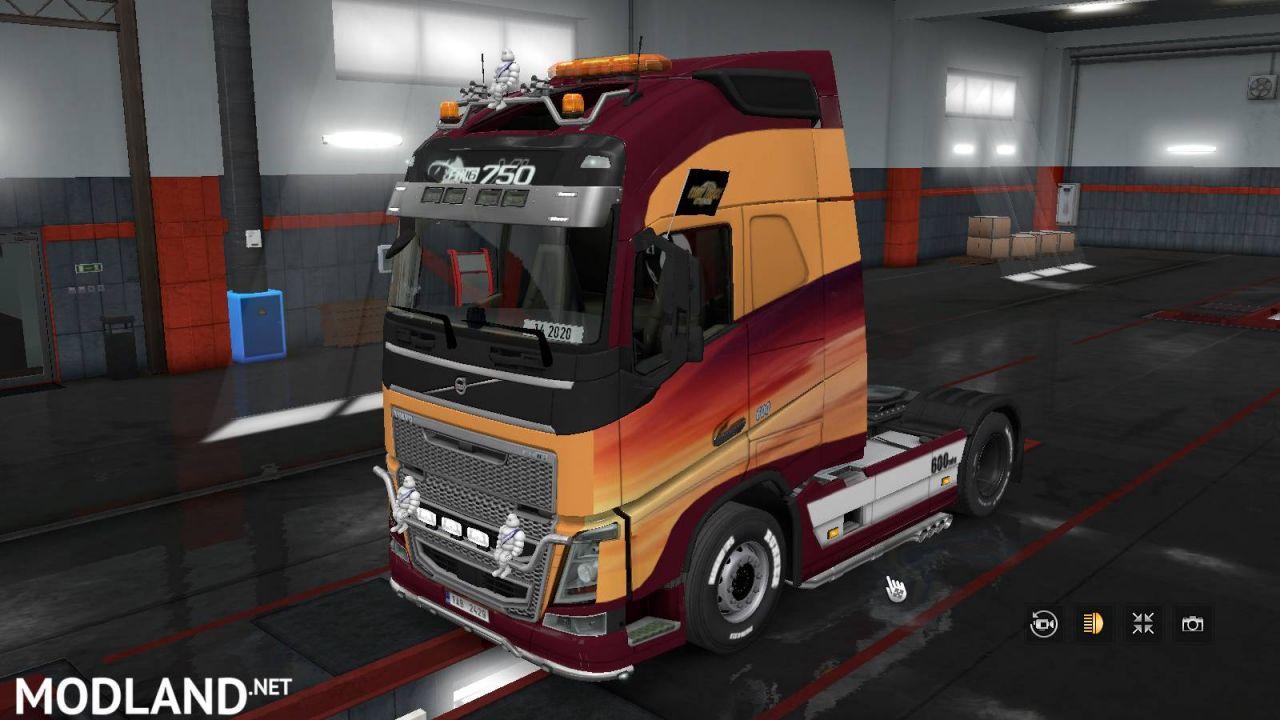 Euro Truck Simulator 2 volvo fh 2012 skin 1.36