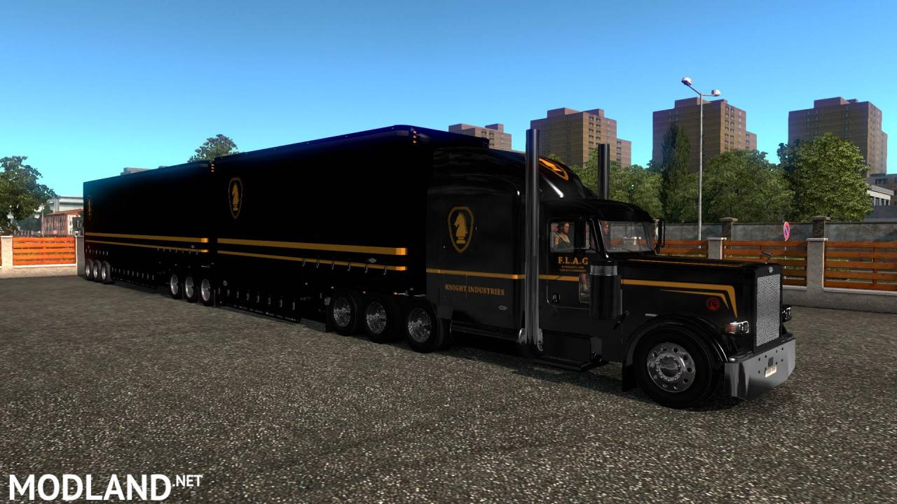 ETS2 - Knight Rider skin for C.A.M Double Drop Trailers