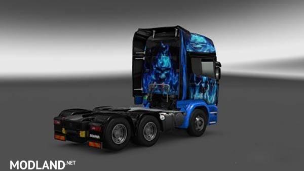 Scania Streamline Blue Flame Skin