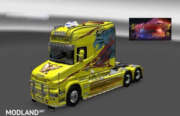 Scania T griffin to dragon skin