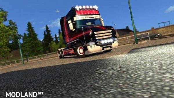 Scania T Longline Red Eagle Skin