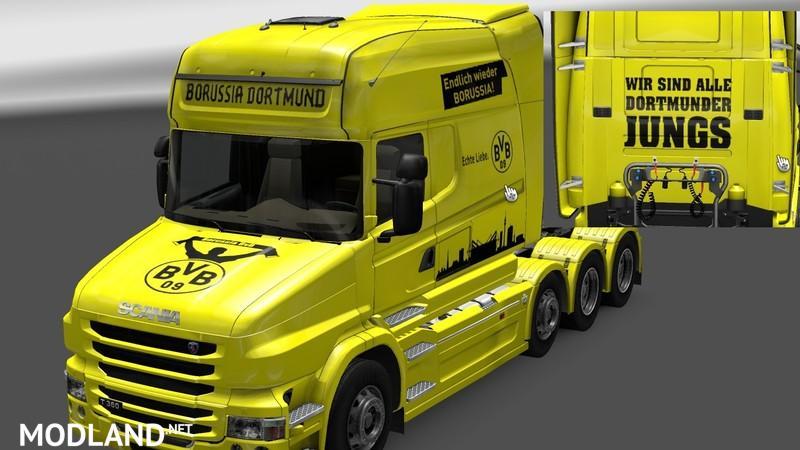 Scania T Longliner Borussia Dortmund Skin
